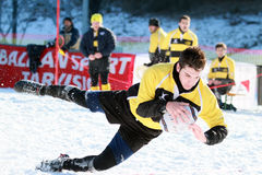 SNOW RUGBY INTERNATIONAL TARVISIO Royalty Free Stock Photo