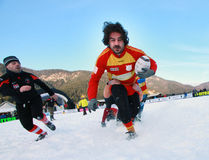 SNOW RUGBY INTERNATIONAL TARVISIO Stock Photos