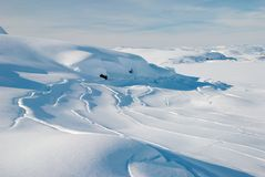 Snow's relief. Relief of snow on icefield, Greenland stock photos
