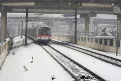 Snow's Shanghai Metro Stock Photo