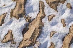 Snow and sand Stock Images
