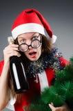 Snow santa girl in christmas Royalty Free Stock Photos