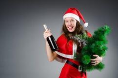 Snow santa girl in christmas Royalty Free Stock Photo