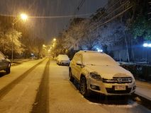 Snow Santiago Royalty Free Stock Images