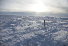 Snow-scape. Bleak snows-cape across vast landscape Royalty Free Stock Image