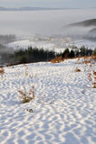 Snow scape in Elguea range (Spain) Stock Photo