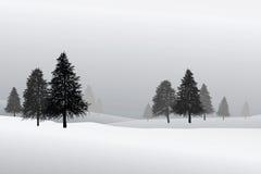 Snow scene Stock Image