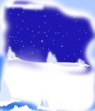 Snow scene night Stock Images