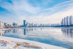 Snow scene Rime Songhua River. IT`S A BEAUTIFUL PICTURE Stock Photography