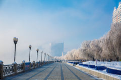 Snow scene Rime Songhua River. IT`S A BEAUTIFUL PICTURE Royalty Free Stock Photos
