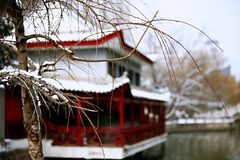 Snow Scenery in Zhengzhou People& x27;s Park. Zhengzhou People& x27;s Park is located on the west side of North 27th Road in the urban center. It was established royalty free stock photos