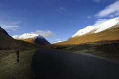 Snow on the Scottish highlands Royalty Free Stock Images