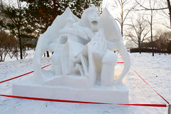 The snow sculpture - cemeteries of haze Royalty Free Stock Photography