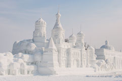 Snow sculpture Royalty Free Stock Photos