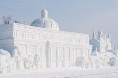 Snow sculpture Royalty Free Stock Image