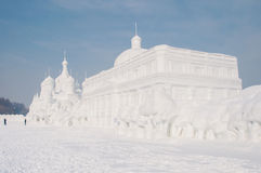 Snow sculpture Stock Image