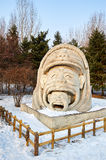 The snow sculpture - The family. The photo was taken in Sun island park Harbin city Heilongjiang province, China Stock Photos