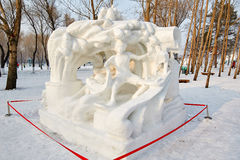 The snow sculpture - gushing Royalty Free Stock Image