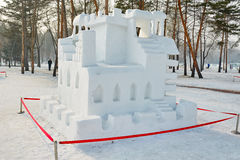 The snow sculpture - Maze Stock Photography