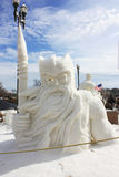Snow Sculpture National Competition - Lake Geneva, WI Stock Images