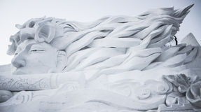 Snow Sculptures at the Harbin Ice and Snow Festival in Harbin China Stock Photography