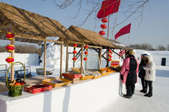 Snow Sculptures at the Harbin Ice and Snow Festival in Harbin China Royalty Free Stock Images
