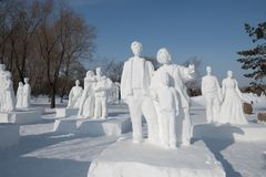 Free Snow Sculptures- Harbin Snow Sculptures 2018 Life Like Snow Carvings In Fine Detail Stock Photos - 109178593