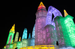 Snow Sculptures at the 26th Harbin Ice and Snow Festival in Harbin China Royalty Free Stock Image