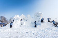 Snow Sculptures at the the 27th Harbin Ice and Snow Festival in Harbin China Royalty Free Stock Image