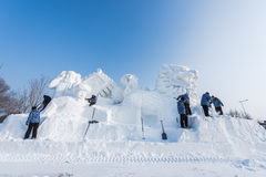 Snow Sculptures at the the 27th Harbin Ice and Snow Festival in Harbin China Royalty Free Stock Photography