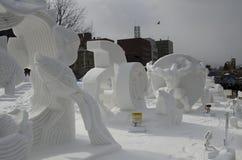 Snow Sculptures Sapporo Festival Royalty Free Stock Photos