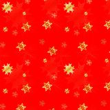 Snow seamless background. Snow seamless red background with golden snow royalty free illustration