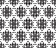 Snow seamless pattern. Abstract winter ornamental textured backg. Round. Snowflake pattern. Snowflake  holiday texture. Lacy doodle ornament Stock Photography