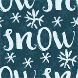 Snow seamless pattern Stock Photo