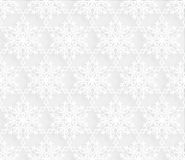 Snow seamless pattern. Winter Holiday Snowflakes lacy tile ornament Royalty Free Stock Images