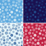 Snow Seamless Vector Background Set Royalty Free Stock Image