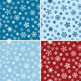 Snow Seamless Vector Backgrounds Set Stock Photos