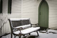 Snow seat Royalty Free Stock Images