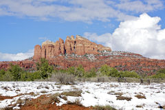Snow in Sedona, AZ Stock Photo