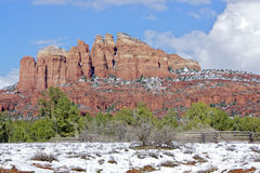 Snow in Sedona, AZ Royalty Free Stock Photo