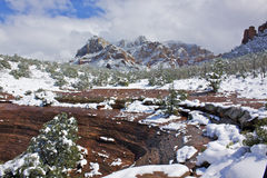 Snow in Sedona, AZ Stock Image