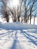 Snow Shadow Royalty Free Stock Photography