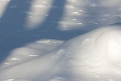 Snow Shadows. In Winter Time stock image