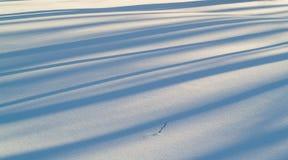 Snow and shadows stock photos