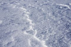 Snow shadows Royalty Free Stock Photography