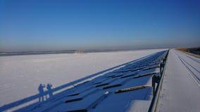 Frozen Danube stock image