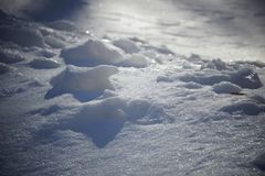 Snow and shadows. texture background snow surface the snow stock photography