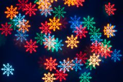 Snow shape bokeh light background Royalty Free Stock Image