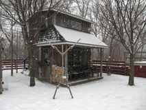 Snow Shed Royalty Free Stock Photo