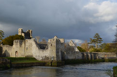 Snow Shining on the Ruins of Desmond Castle Royalty Free Stock Images